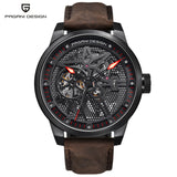 PAGANI DESIGN Men's Classic Skeleton Mechanical Watches Waterproof 30M Genuine Leather Brand Luxury Hollow Automatic Watch saat