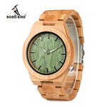BOBO BIRD V-B22 Original Bamboo Men's Wristwatch Classic Folding Clasp Quartz Movement Wrist Watch erkek kol saati