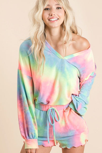Pastel Tie Dye French Terry Top