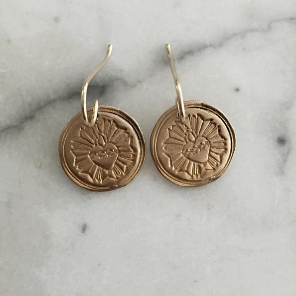 Mimosa Sacred Heart Earrings | Mimosa Handcrafted | Wanderlust By Abby