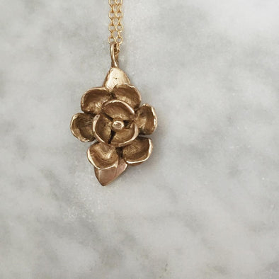 Mimosa Magnolia Necklace