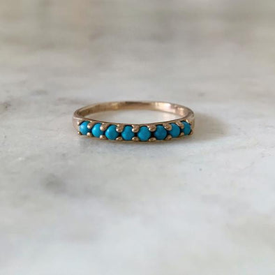 Mimosa 8 Stone Turquoise Ring | Mimosa Handcrafted | Wanderlust By Abby
