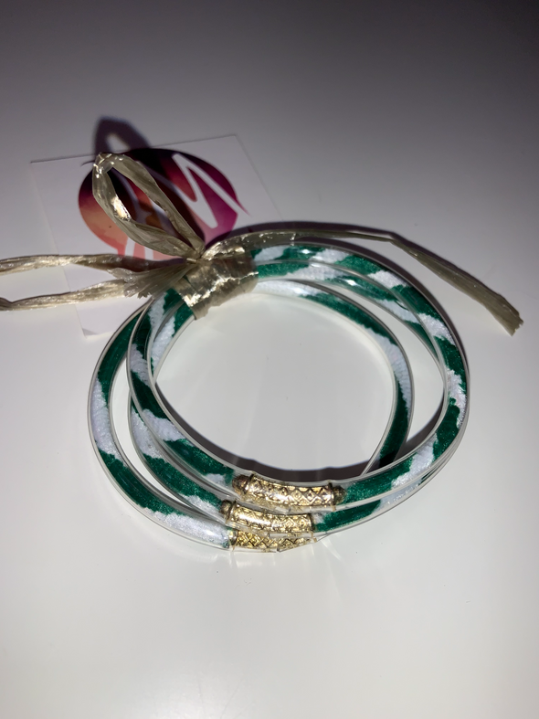 Green and White Bangles