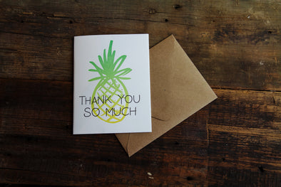 Thank You Card Hand-Lettered Lionheart Prints