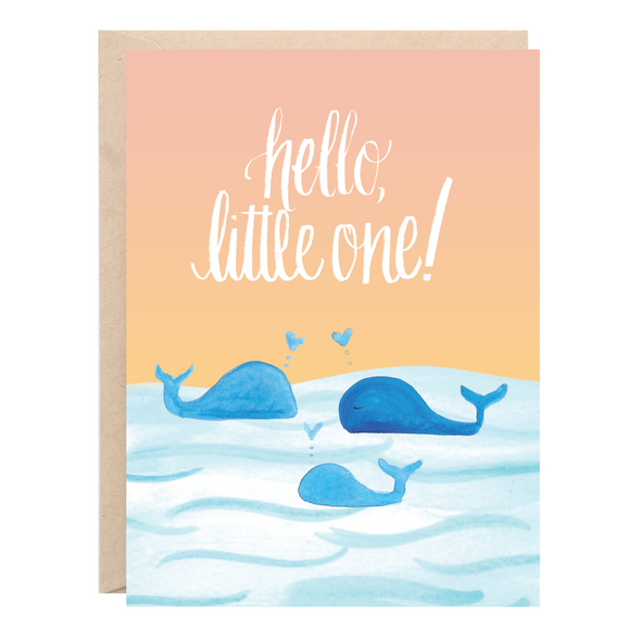 Hello Little One Baby Greeting Card | Lion Heart Prints | Wanderlust By Abby