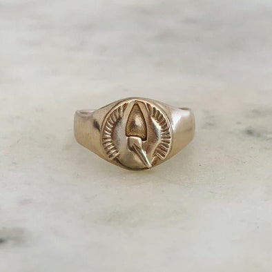 Mimosa Pelican Signet Ring | Mimosa Handcrafted | Wanderlust By Abby