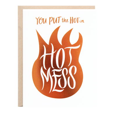 HOT MESS Card | Lion Heart Prints | Wanderlust By Abby
