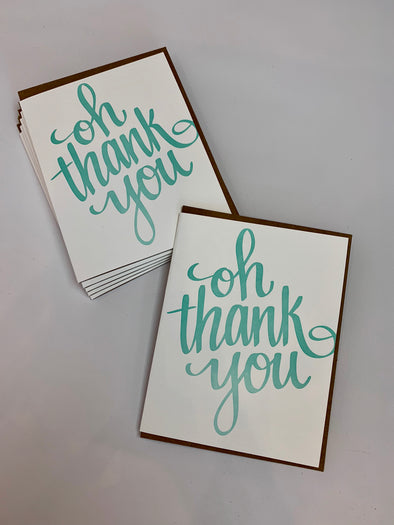 Oh Thank You Card | Lion Heart Prints | Wanderlust By Abby