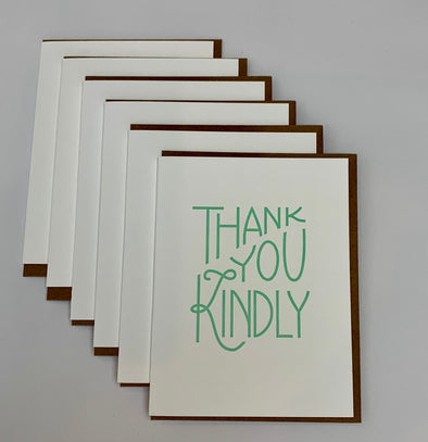 Thank You Kindly Greeting Card