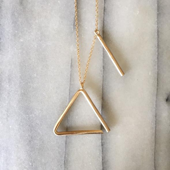Mimosa Triangle Necklace