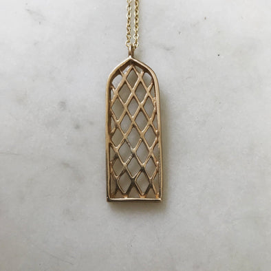 Mimosa Window Necklace