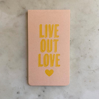 Mimosa Live Out Love Letterpress Notebook