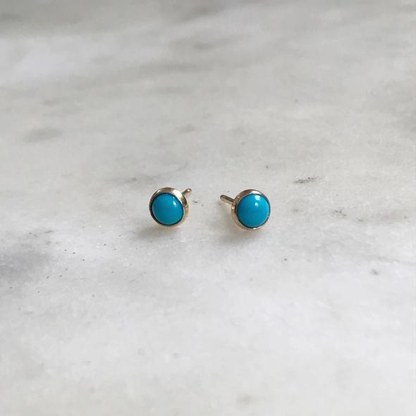 Mimosa Turquoise Studs | Mimosa Handcrafted | Wanderlust By Abby