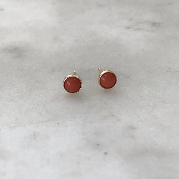 Mimosa Coral Studs | Mimosa Handcrafted | Wanderlust By Abby