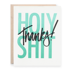 Holy Shit! Thanks! Greeting Card | Wanderlust By Abby | Wanderlust By Abby