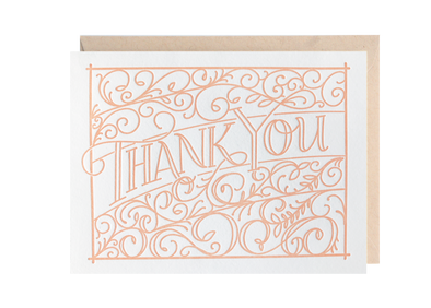 Ironwork Thank You Greeting Card | Lion Heart Prints | Wanderlust By Abby
