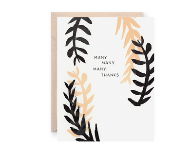 Many Many Many Thanks Greeting Card | Lion Heart Prints | Wanderlust By Abby