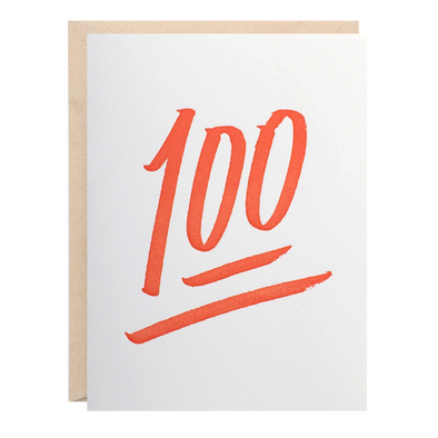 100 Card | Lion Heart Prints | Wanderlust By Abby