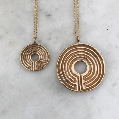 Mimosa Labyrinth Necklace