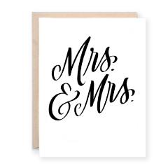 Mr. & Mrs. Greeting Card | Lion Heart Prints | Wanderlust By Abby