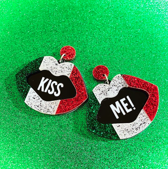 PolyPaige Kiss Me Irish Flag Earrings | PollyPaige | Wanderlust By Abby