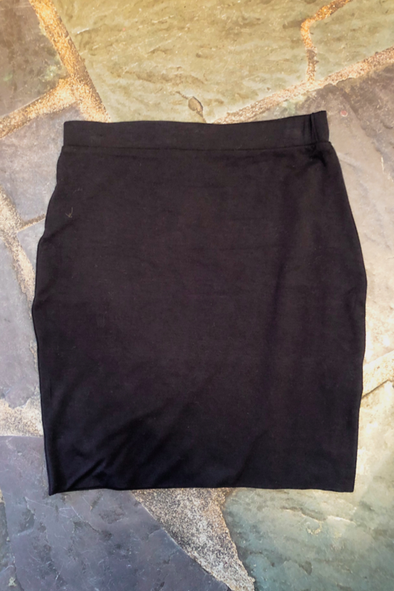 Basic Black Knit Mini Skirt