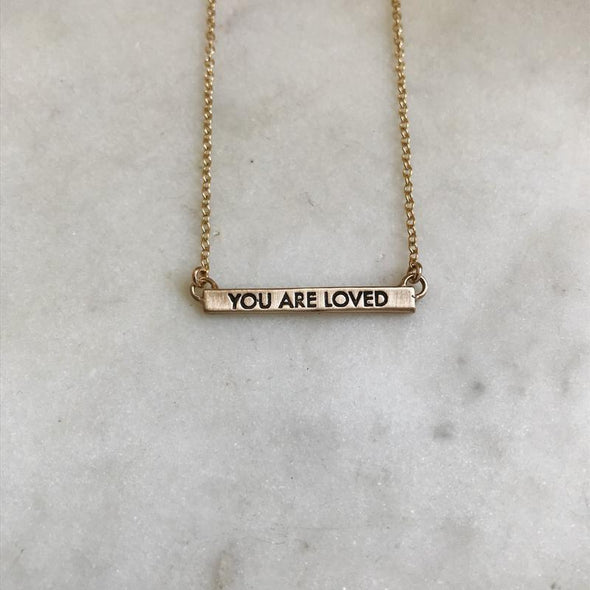Mimosa You Are Loved Necklace