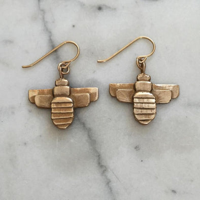 Mimosa Bee Earrings | Mimosa Handcrafted | Wanderlust By Abby