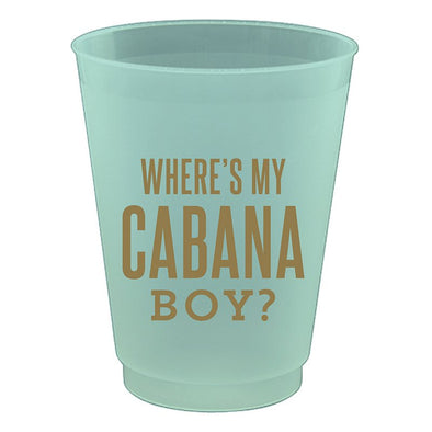 Where's My Cabana Boy Party Cups