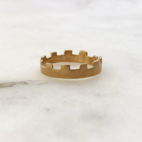 Mimosa Crenellated Ring | Mimosa Handcrafted | Wanderlust By Abby