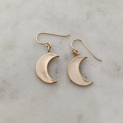 Mimosa Crescent Moons Earrings