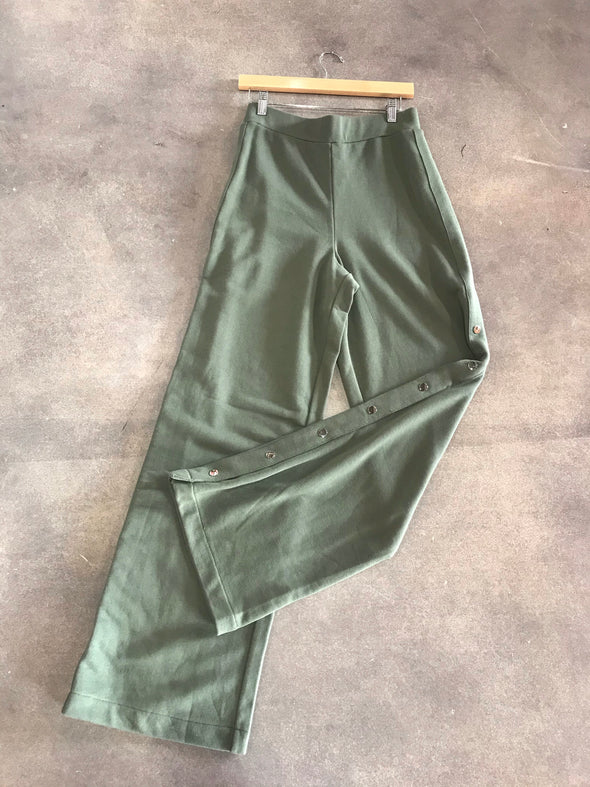 Hunter Green High Waisted Pant