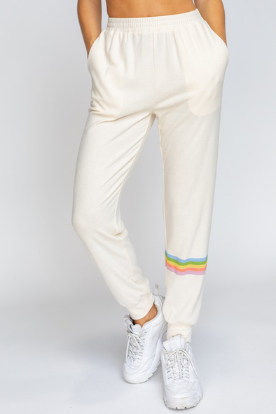 Jogger With Stripe Print