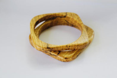 Beneath The Bark - Square Bangle - Spalted Pecan | Beneath The Bark | Wanderlust By Abby