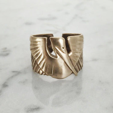 Mimosa Pelican Ring | Mimosa Handcrafted | Wanderlust By Abby