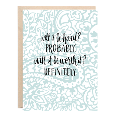 Will It Be Hard? Greeting Card | Lion Heart Prints | Wanderlust By Abby