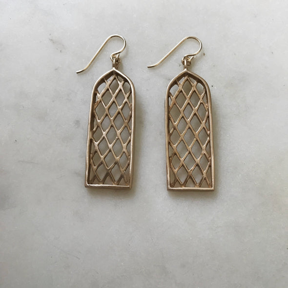 Mimosa Window Earrings