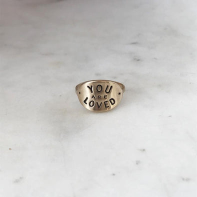 Mimosa You Are Loved Ring | Mimosa Handcrafted | Wanderlust By Abby