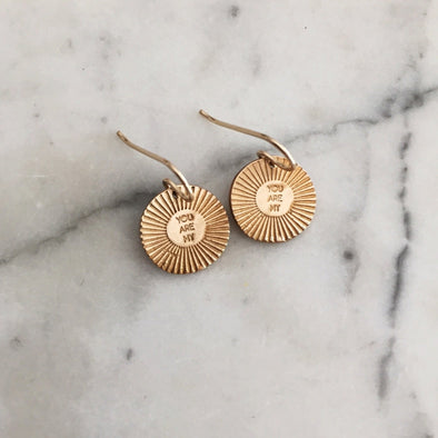 Mimosa Small You Are My Sunshine Earrings