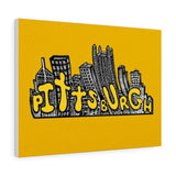 Pittsburgh Cityscape Canvas Gallery Wraps - Pittsburgh Pottery