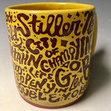 Pittsburghese Mug Gold Handmade  in Pittsburgh by Local Yinzer Artists - Pittsburgh Pottery