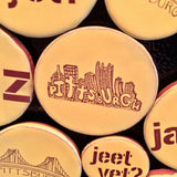 Pittsburghese Magnets Gold Handmade in Pittsburgh by Local Yinzer Artists. Super Strong Hold - Pittsburgh Pottery