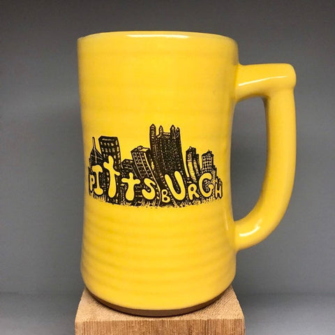 Cityscape Drawing Pittsburgh Beer Stein