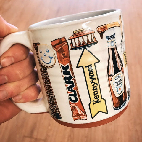 Pittsburgh Artist Series Special Edition Pittsburgh Pottery Mug featuring Mike Schiavone