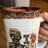 I Heart U Zombie Stein with Blood and Black Lip Drip