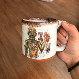 Zombie Love Mug with Bloody Black Red Lip Drip