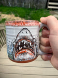 Shark Attack Blood Red Mug Lip Drip