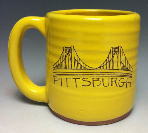 Pittsburgh Bridge Pittsburgh Pottery Mug - Pittsburgh Pottery