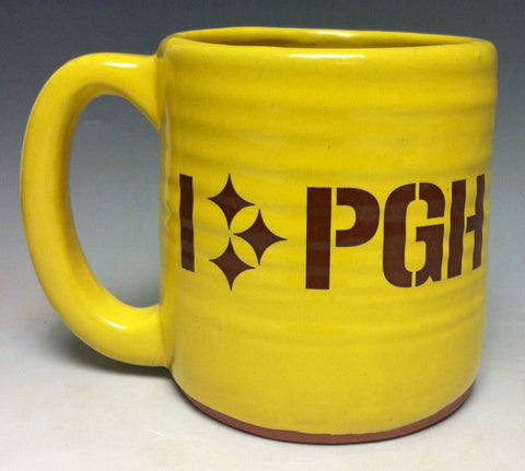 I Love Pittsburgh Pottery Mug - Pittsburgh Pottery