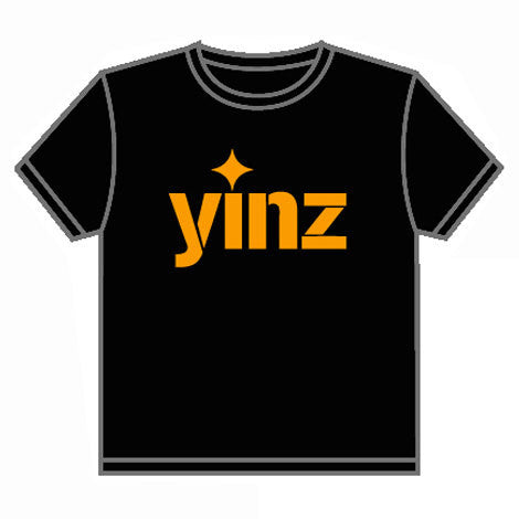 Yinz T-shirt Pittsburgh Black and Gold Local Design Locally Printed - Pittsburgh Pottery
